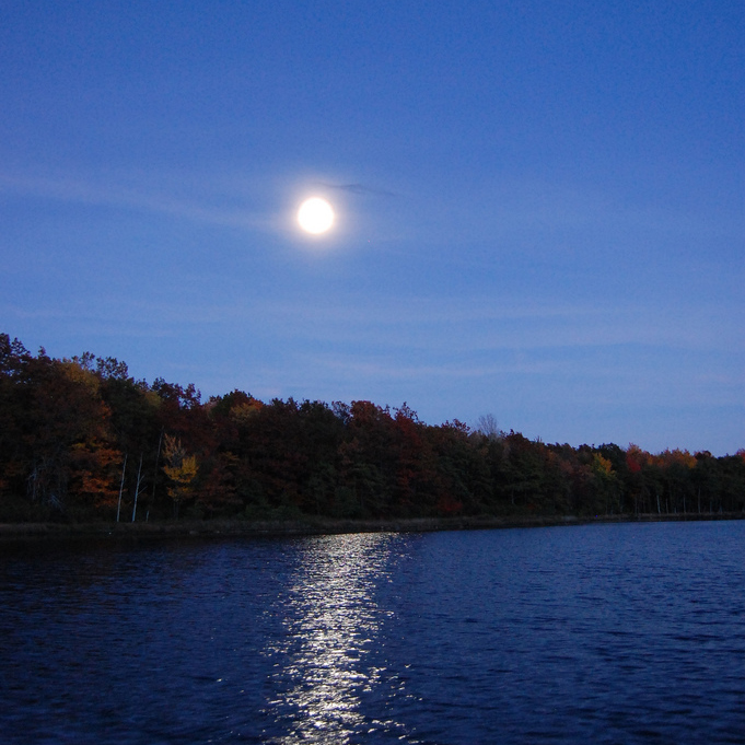 October Moon on Lake