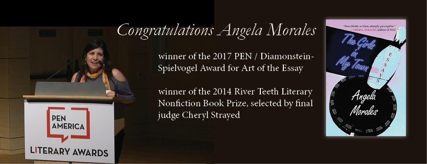 Book Contest Winner Angela Morales Wins PEN Literary Award